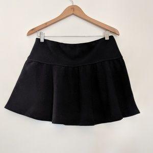 NWT Soft Joie Black Ribbed Skater Skirt Size M